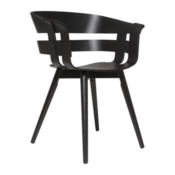 Design House Stockholm - Wick Chair - Black Ash (H75 x W57 x D50.5cm)
