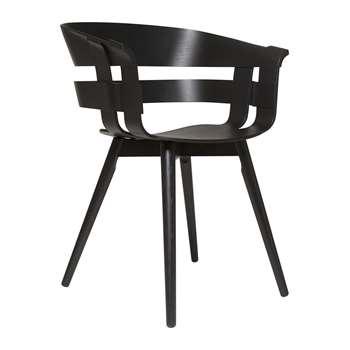 Design House Stockholm - Wick Chair - Black Ash (H75 x W57 x D50.5cm)