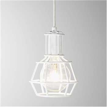 Design House Stockholm - Work Lamp - White (H21 x W16 x D15cm)
