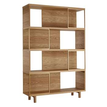 Design Project by John Lewis No.004 Display Unit, Oak (H180 x W120 x D35cm)