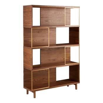 Design Project by John Lewis No.004 Display Unit, Walnut (H180 x W120 x D35cm)