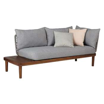 Design Project by John Lewis No.096 Lounging Chaise With Table, FSC-Certified (Acacia) (70 x 77cm)