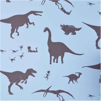 Designer Kids Wallpaper 'D'ya-think-e-saurus' in Blue