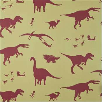 Designer Kids Wallpaper 'D'ya-think-e-saurus' in Green