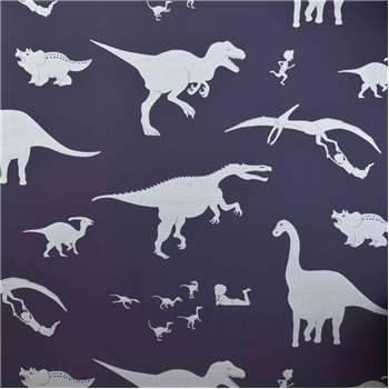 Designer Kids Wallpaper 'D'ya-think-e-saurus' in Purple