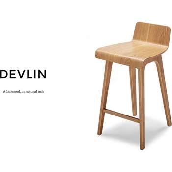 Devlin Barstool, Natural Ash (77 x 46cm)