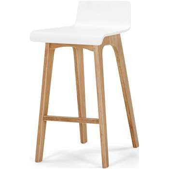 Devlin Barstool, White and Ash (77 x 40cm)