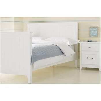 Devon White Bed Frame Double (110 x 206 x 145cm)