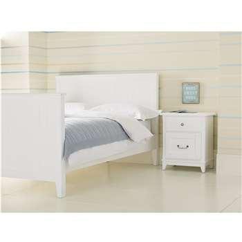 Devon White Bed Frame Single (99.5 x 206 x 100cm)