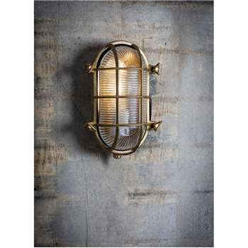 Devonport Bulk Head Light - Brass (23.8 x 16.6cm)