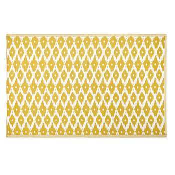 DHATU Yellow Outdoor Rug with White Graphic Print (H180 x W270cm)