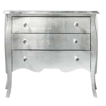 DIAMANT Wooden chest of drawers in silver (76 x 91cm)