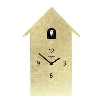 Diamantini & Domeniconi - Cucù Wall Clock - Gold Leaf (H30 x W14.5 x D10cm)
