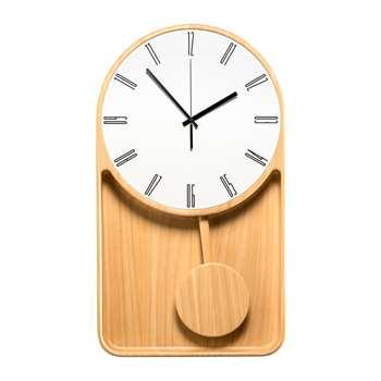 Diamantini & Domeniconi - Mastrociliegia Wall Clock - Natural Ayus (H70 x W40 x D7cm)