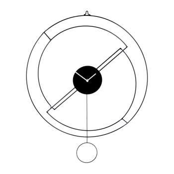 Diamantini & Domeniconi - Mezz'ora Pendulum Clock - Black (H60 x W60cm)