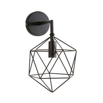 DIAMOND Black Wire Wall Lamp (31 x 17cm)