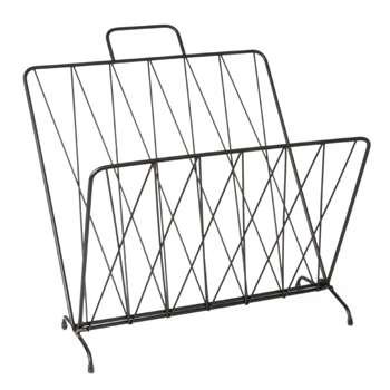 Diamond Raster Magazine Rack - Black