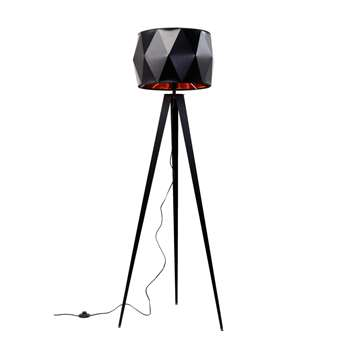 Diamond tripod floor light black (H156 x W53.5 x D45cm)