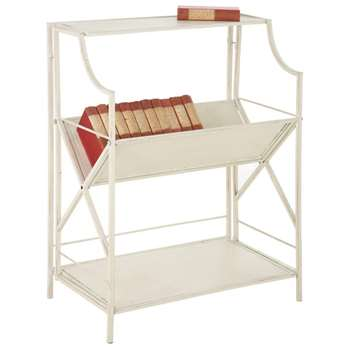 Dickens Book Stand, Antique Finish - Cream/Natural (80 x 61cm)