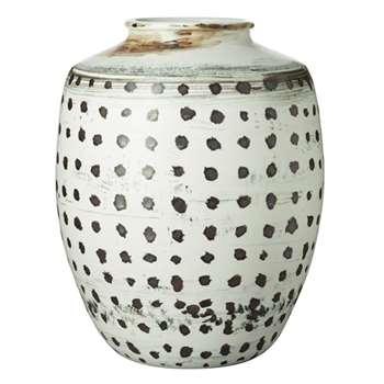 Dige Urn - Black/White (47 x 38cm)