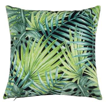 DIGITALIS Green Cushion Cover with Foliage Print (H40 x W40cm)