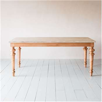 Dining Table with Copper Legs (H76 x W180 x D90cm)