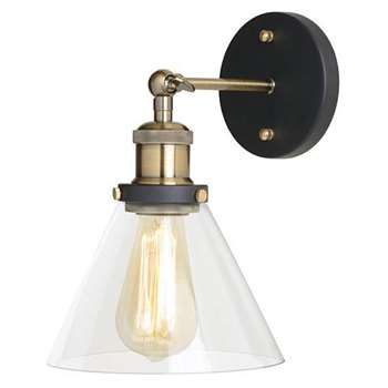 Dion Black Wall Light (26.5 x 22cm)