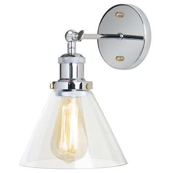 Dion Chrome Wall Light (26 x 22cm)
