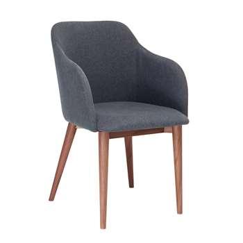 Dip dining chair grey fabric (80 x 52cm)