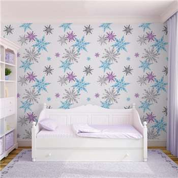 Disney Frozen Snowflake Wallpaper, Purple