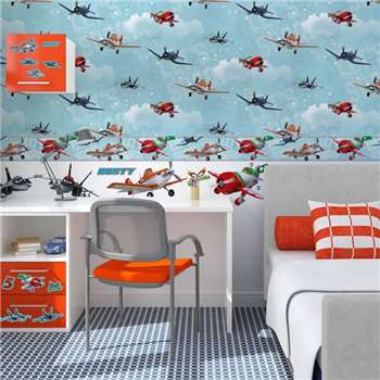 Disney Planes Wallpaper, Multicoloured