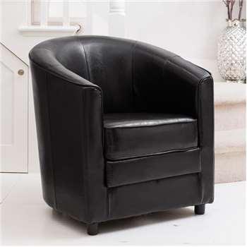 Dittisham Tub Chair, Black (H77 x W69 x D69cm)