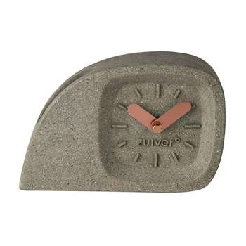 Zuiver Doblo Desk Clock in Concrete Finish (H10.5 x W15.5 x D5cm)