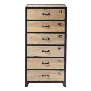 DOCKS Metal semainier chest in black (120 x 60cm)