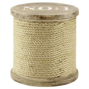 DOCKS Wooden Rope Spool Stool (H40 x W40 x D40cm)