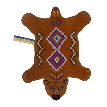 Doing Goods - Berber Grizzly Bear Rug - Brown - Small (H89 x W65 x D2cm)