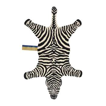 Doing Goods - Chubby Zebra Rug - Black (H152 x W95 x D2cm)