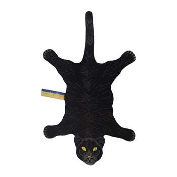 Doing Goods - Fiery Black Panther Rug - Large (H150 x W90 x D2cm)