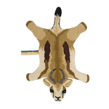 Doing Goods - Jumpy Springbok Rug - Sand - Small (H95 x W64 x D2cm)