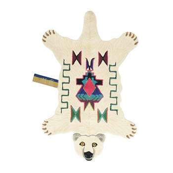 Doing Goods - Kasbah Polar Bear Rug - Off White - Large (H151 x W93 x D2cm)