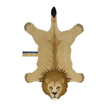 Doing Goods - Moody Lion Rug - Tan - Large (H151 x W100 x D2cm)