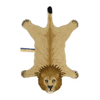 Doing Goods - Moody Lion Rug - Tan - Small (H100 x W64 x D2cm)