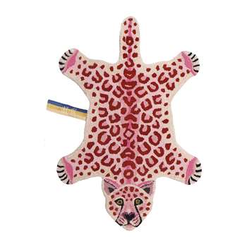 Doing Goods - Pinky Leopard Rug - Small (H90 x W63 x D2cm)