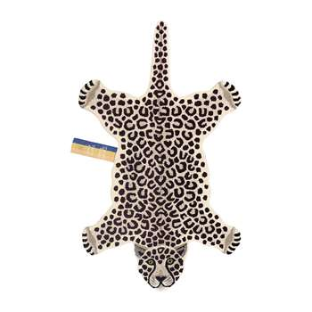 Doing Goods - Snowy Leopard Rug - Off White - Large (H150 x W91 x D2cm)