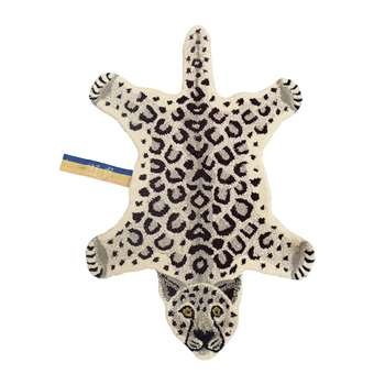 Doing Goods - Snowy Leopard Rug - Off White - Small (H92 x W63 x D2cm)