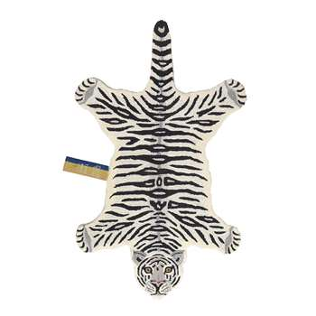 Doing Goods - Snowy Tiger Rug - Off White - Large (H150 x W91 x D2cm)