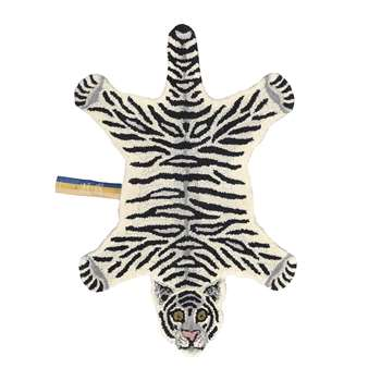 Doing Goods - Snowy Tiger Rug - Off White - Small (H92 x W63 x D2cm)
