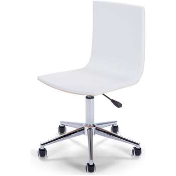Dolly Office Chair, Ash and White (86 x 59cm)