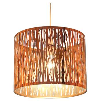 Donez Pendant Light Shade Copper (H23.5 x W30 x D30cm)