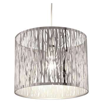 Donez Pendant Light Shade Polished Chrome (H23.5 x W30 x D30cm)